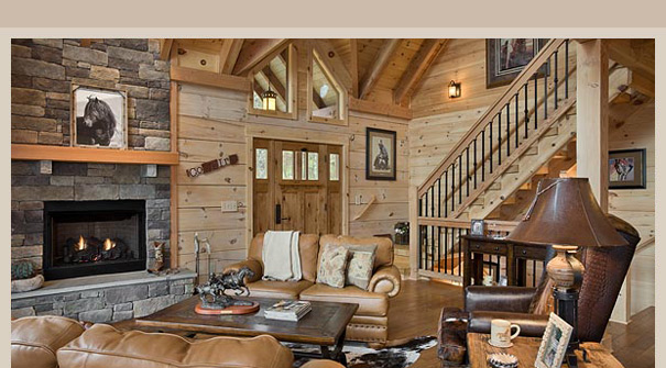 Log home builder packages precut log home packages for Complete home construction